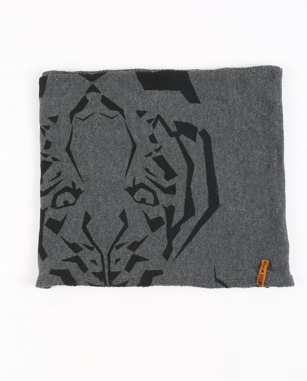 Schal mit Tigerprint - in Dunkelgrau - Ketnet
